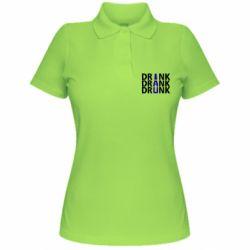 Женская футболка поло Drink Drank Drunk