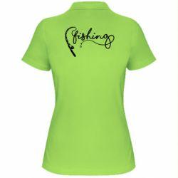 Жіноча футболка поло Fishing and fishing rod