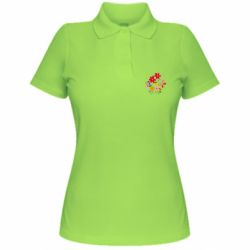 Женская футболка поло Flowers and Butterflies