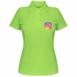 Жіноча футболка поло Instagram Logo Gradient
