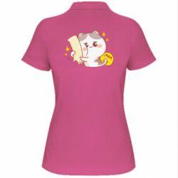 Жіноча футболка поло Кішка тримає руку