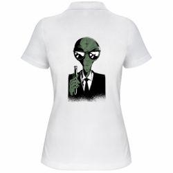 Жіноча футболка поло Люди в черном пародия