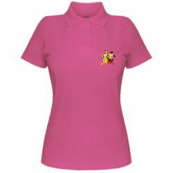 Женская футболка поло Mickey and Pikachu