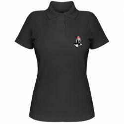 Жіноча футболка поло Недзуко - сенпай