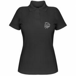 Жіноча футболка поло Skull with scythe