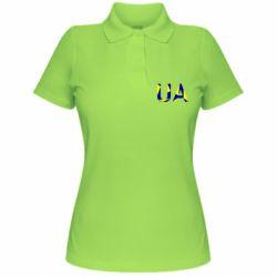 Женская футболка поло UA Ukraine