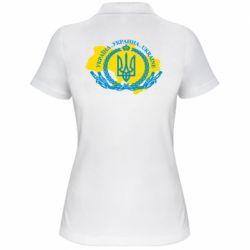 Жіноча футболка поло Україна Мапа