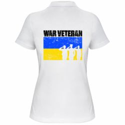 Жіноча футболка поло War veteran