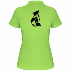 Женская футболка поло Wolf And Fox
