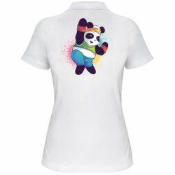 Жіноча футболка поло Zumba Panda