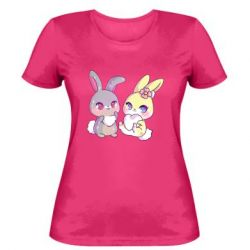 Жіноча футболка Rabbits In Love