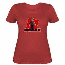 Женская футболка Roblox Builderman