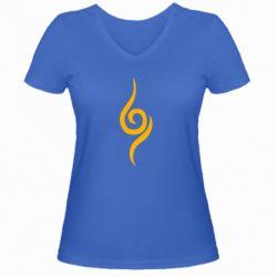Жіноча футболка з V-подібним вирізом Anbu Mark