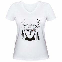 Жіноча футболка з V-подібним вирізом Art Kakashi