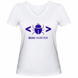 Жіноча футболка з V-подібним вирізом Bug Hunter