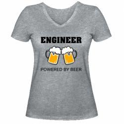 Жіноча футболка з V-подібним вирізом Engineer Powered By Beer