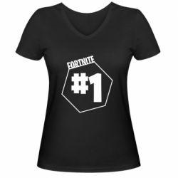 Жіноча футболка з V-подібним вирізом Fortnight number 1