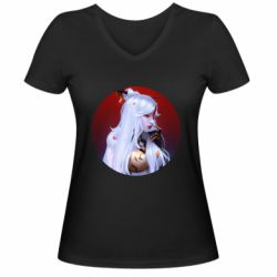 Жіноча футболка з V-подібним вирізом Genshin Impact Ningguang