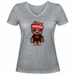 Женская футболка с V-образным вырезом Groot smokes