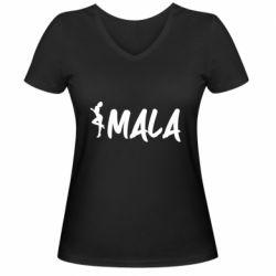 Жіноча футболка з V-подібним вирізом MALA