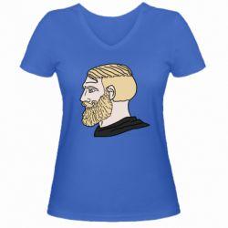 Жіноча футболка з V-подібним вирізом Meme Man Nordic Gamer
