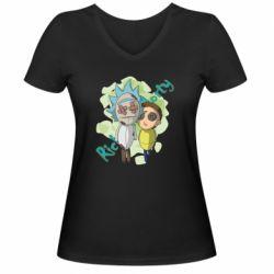 Жіноча футболка з V-подібним вирізом Rick and Morty voodoo doll