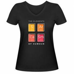 Жіноча футболка з V-подібним вирізом Sarcasm
