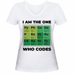 Жіноча футболка з V-подібним вирізом Сode  IT