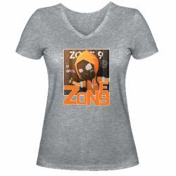 Жіноча футболка з V-подібним вирізом Standoff Zone 9