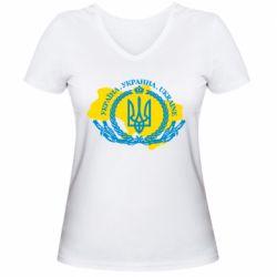 Жіноча футболка з V-подібним вирізом Україна Мапа
