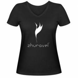 Жіноча футболка з V-подібним вирізом Zhuravel