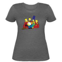 Женская футболка Simpsons At Home