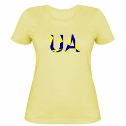 Женская футболка UA Ukraine