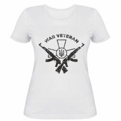 Жіноча футболка Veteran machine gun
