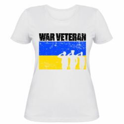 Жіноча футболка War veteran