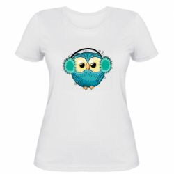 Женская футболка Winter owl