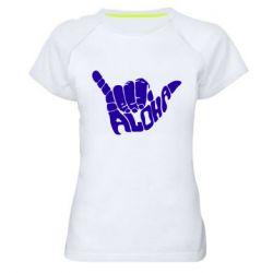 Женская спортивная футболка Aloha Hawai