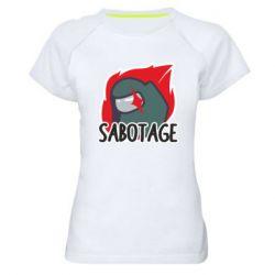 Жіноча спортивна футболка Among Us Sabotage