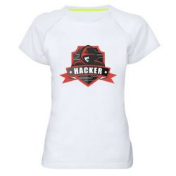 Жіноча спортивна футболка Anonymous Hacker