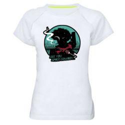 Женская спортивная футболка Cowboy bebop