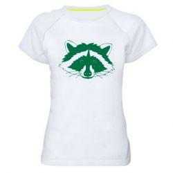 Жіноча спортивна футболка Cute raccoon face