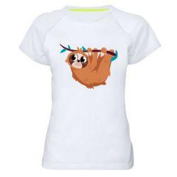 Жіноча спортивна футболка Cute sloth
