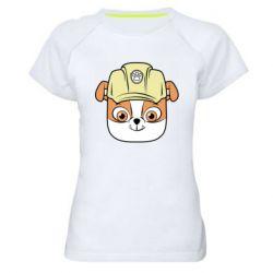 Жіноча спортивна футболка Dog in helmet
