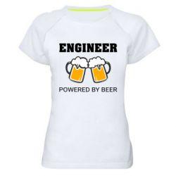 Жіноча спортивна футболка Engineer Powered By Beer