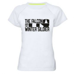 Жіноча спортивна футболка Falcon and winter soldier logo