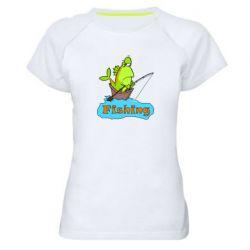 Женская спортивная футболка Fish Fishing