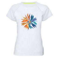 Жіноча спортивна футболка Flower coat of arms of Ukraine