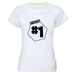 Жіноча спортивна футболка Fortnight number 1