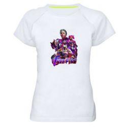 Женская спортивная футболка Garena free avengers