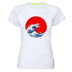 Жіноча спортивна футболка Godzilla Wave